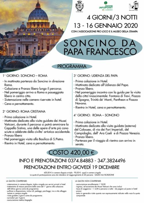 Soncino da Papa Francesco